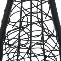 Kabantis krėslas juodas