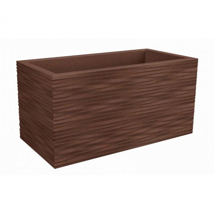 Vazonas-lovelis, rudinto plieno, 80 cm
